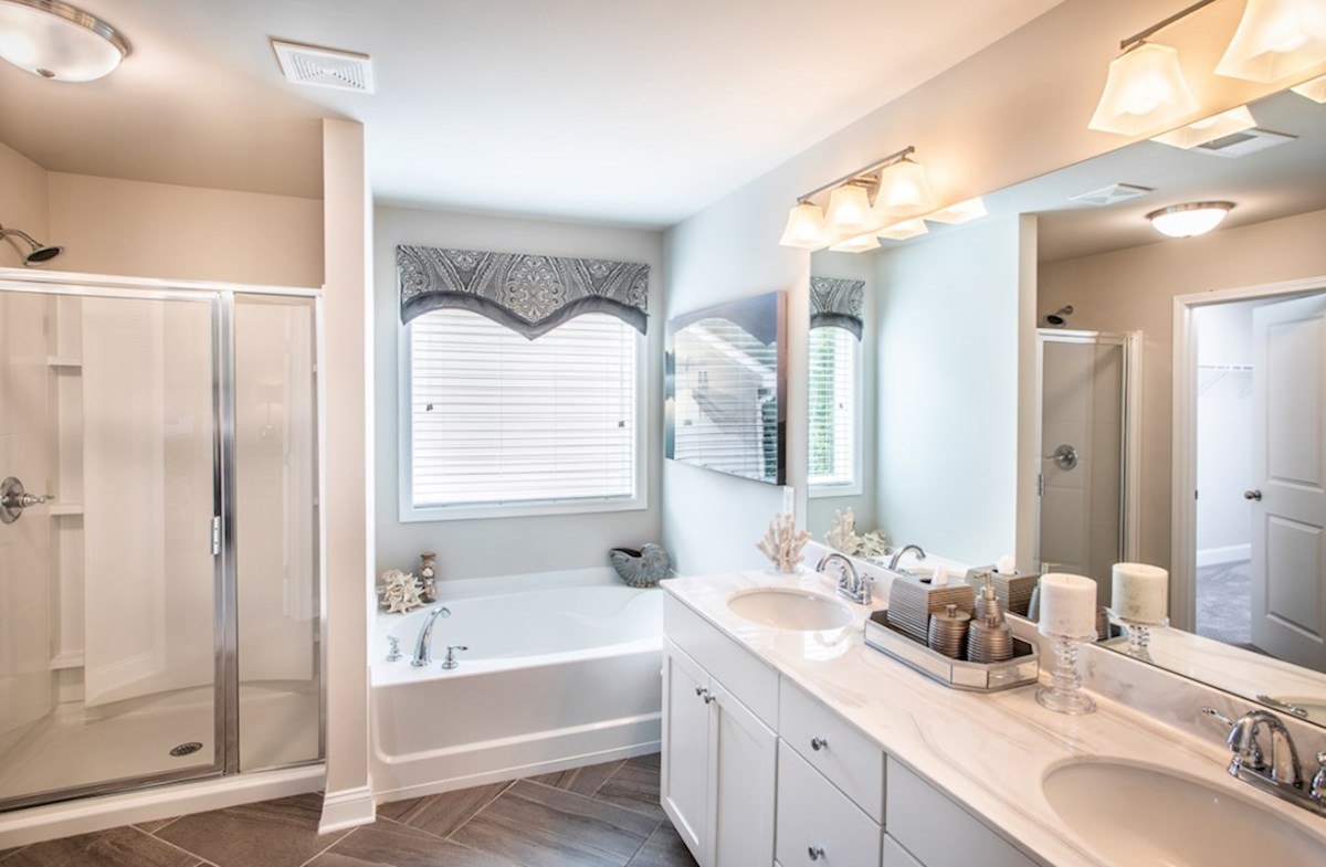 Milford Point Ridgecrest Master Bathroom with dual sinks
