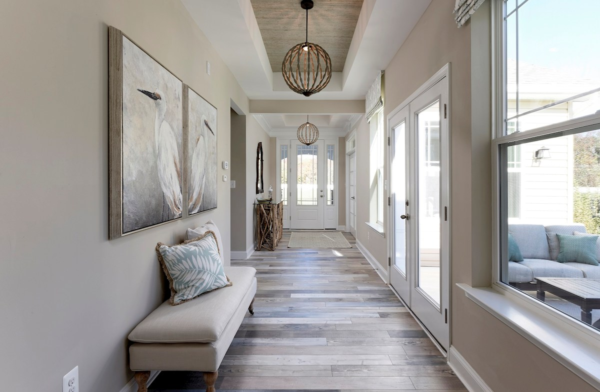 The Estuary Dirickson Welcoming entry foyer filled with natural light
