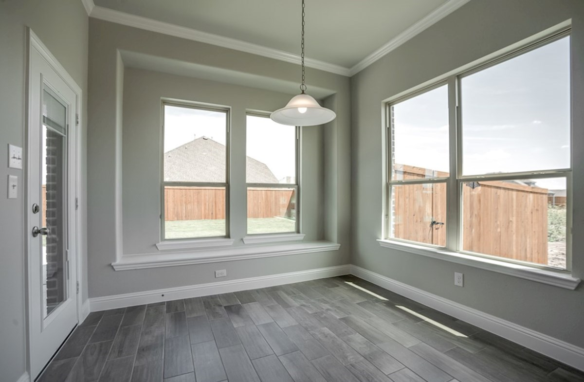 Summerfield quick move-in open breakfast nook with large windows