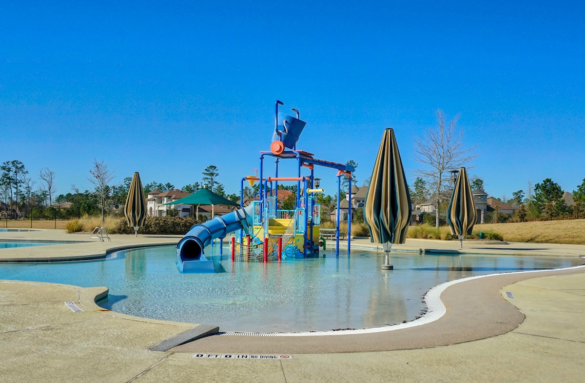 water park with slides and shade