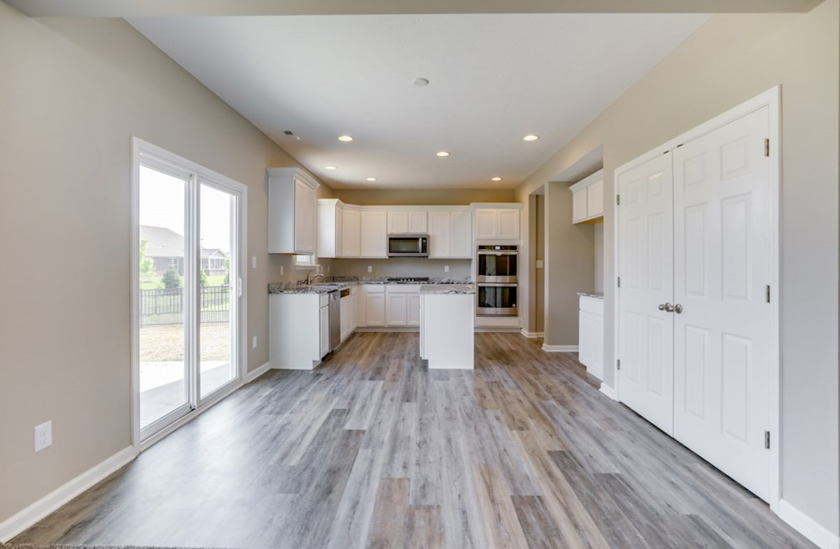 Juniper quick move-in open kitchen and breakfast area