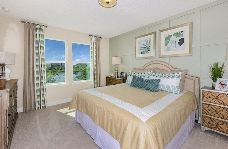 Gatherings® of Lake Nona Chestnut relaxing master bedroom