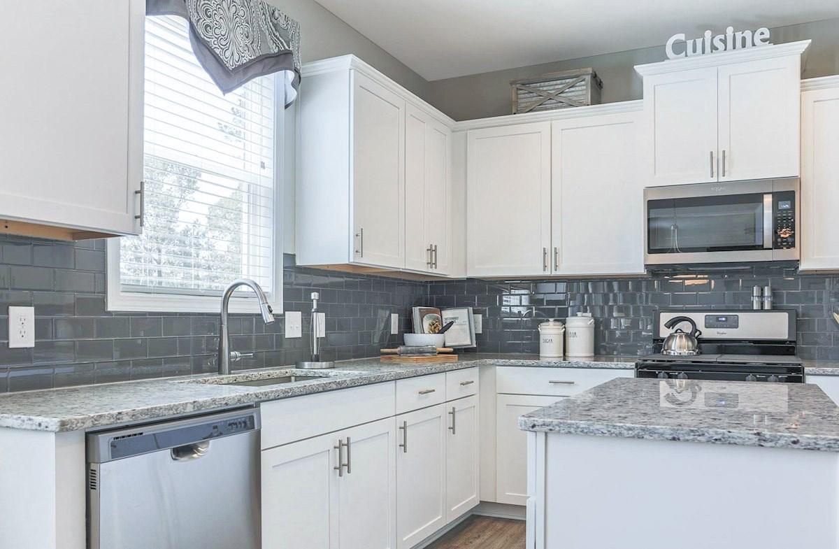 Kitchen with granite countertops