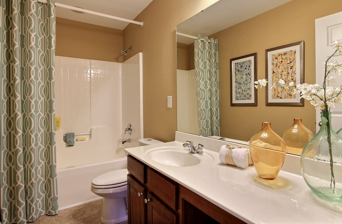 spacious secondary bathroom