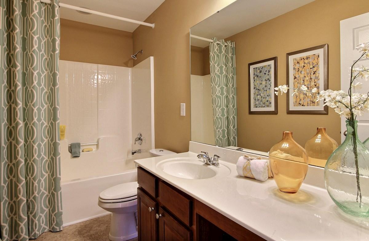 spacious secondary bathroom