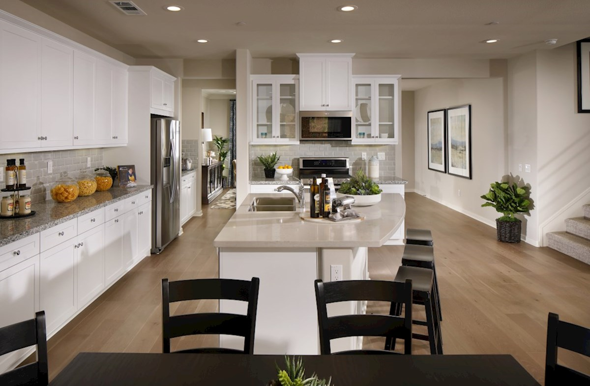 Veranda Ocotillo The kitchen island is the perfect place for serving and lingering over the day's events.