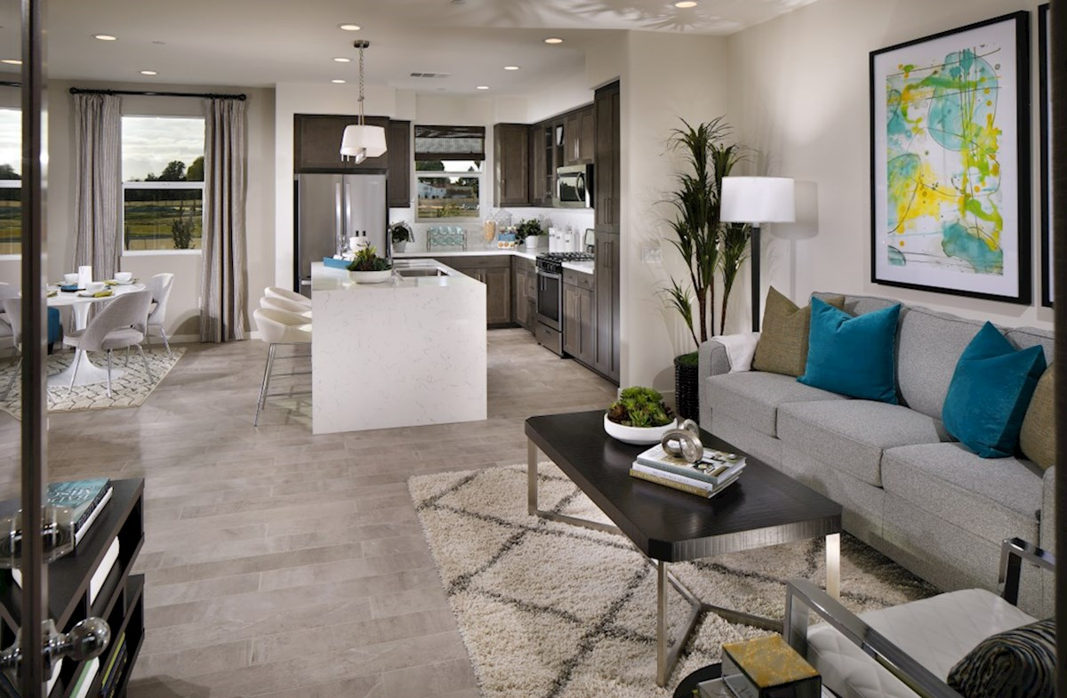 Orchid quick move-in A spacious great room is the perfect space for family bonding