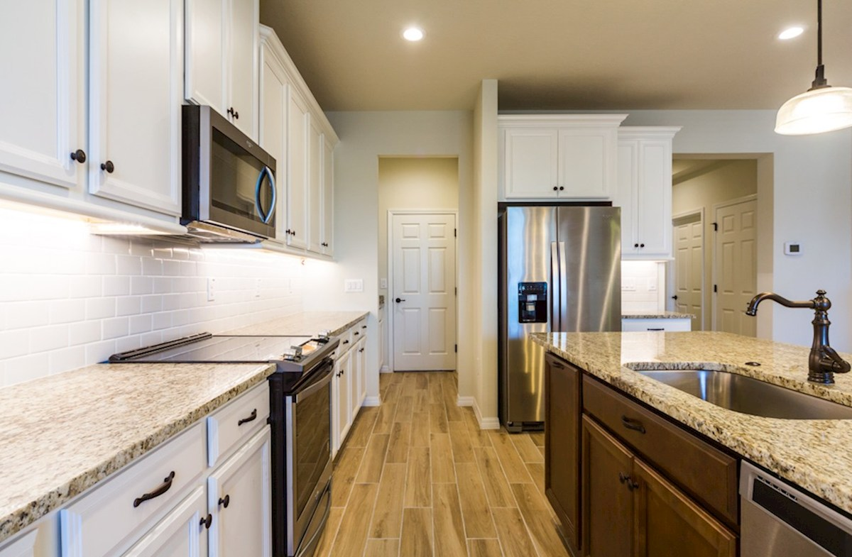 Champlain quick move-in Kitchen with stainless steel appliances
