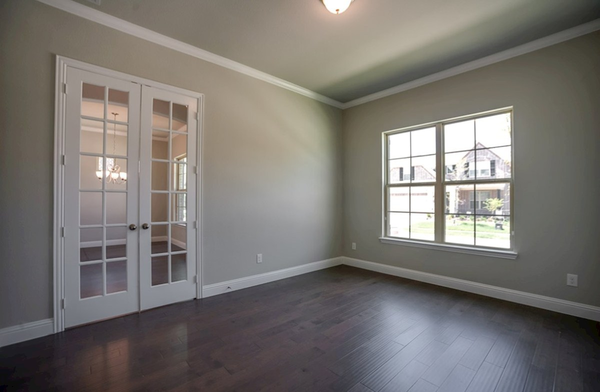 Hamilton quick move-in study with French doors and wood floors