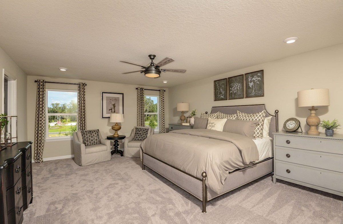 Avalon Park West Cypress Pointe Spacious master bedroom with sitting area