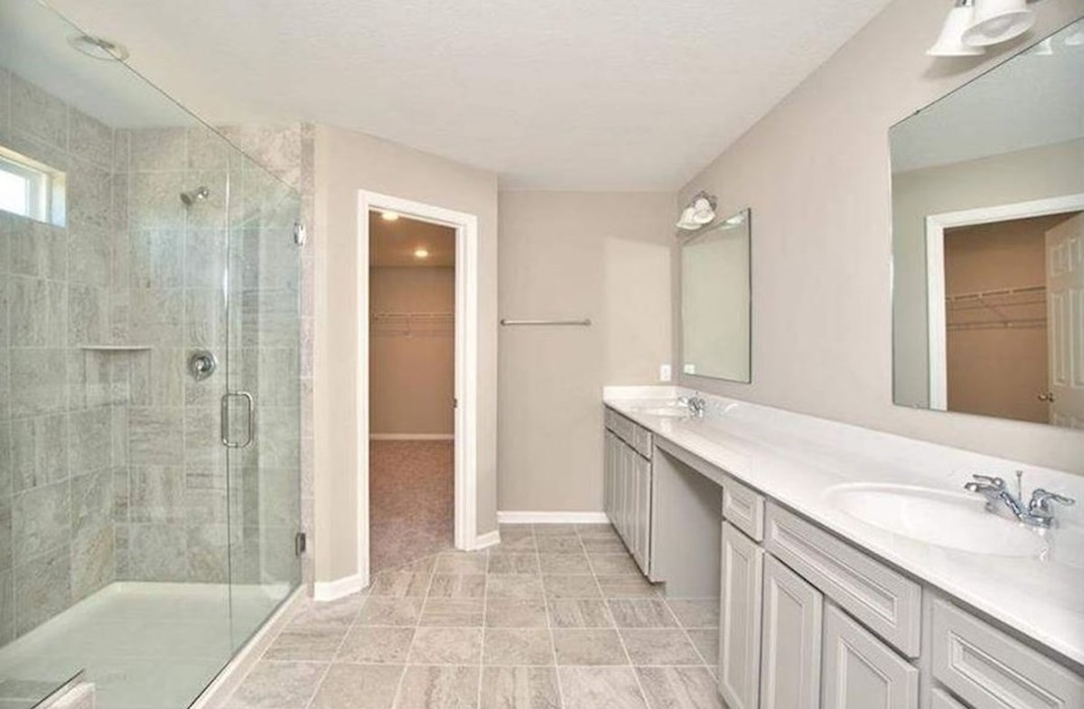 Whitley quick move-in Master bath has attached walk-in closet