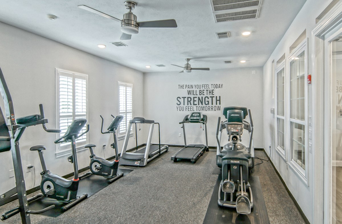 Fitness center with a variety of equipment