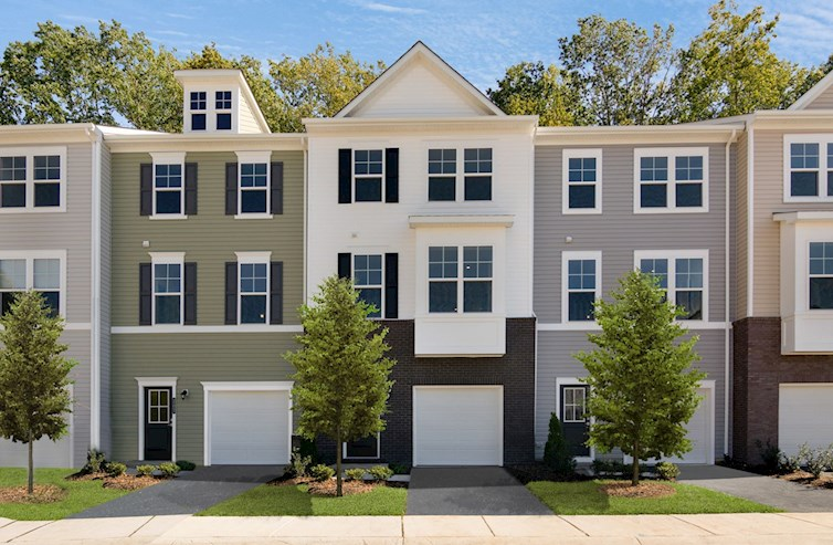 day exterior of 5 Bryson townhomes