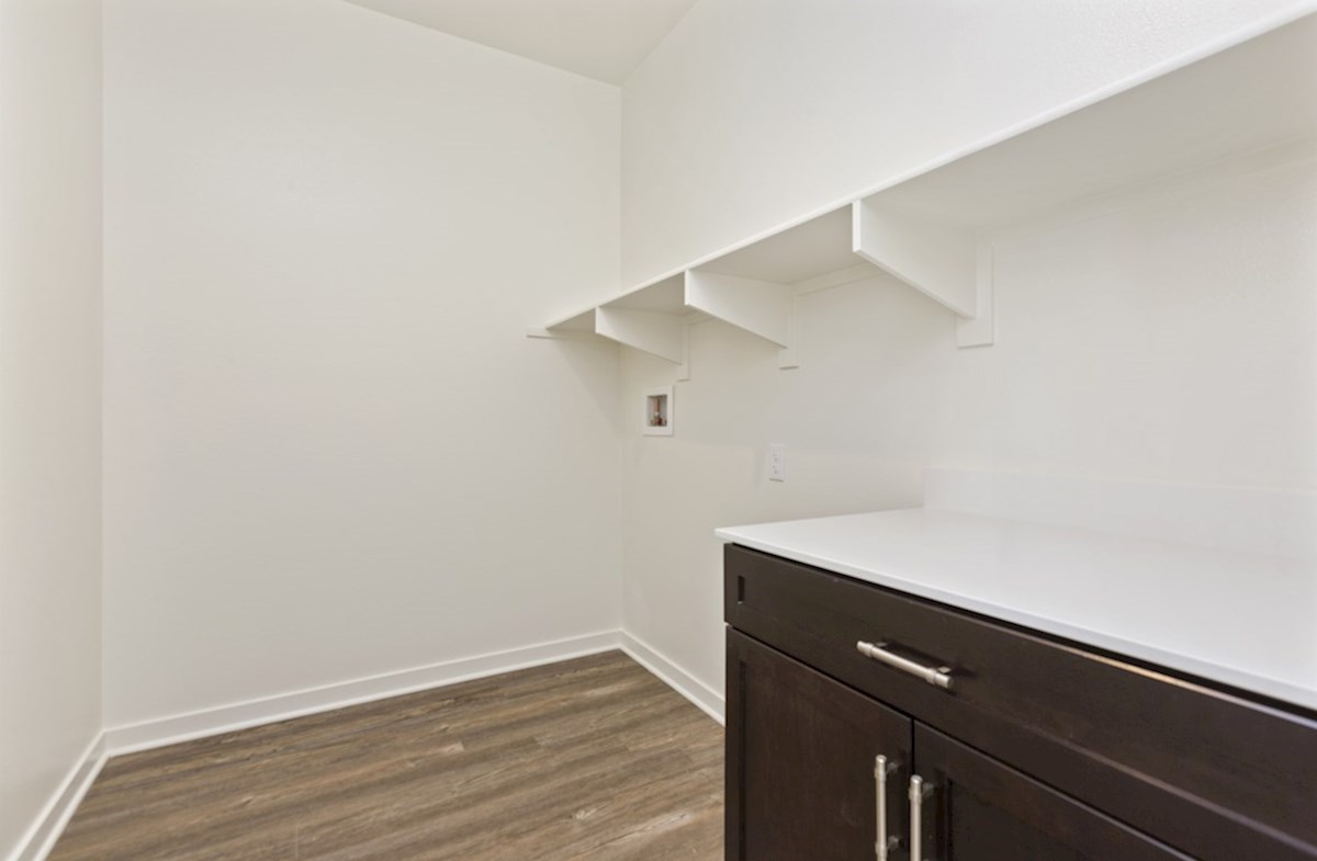Napa quick move-in Oversized laundry room so you can fit an ironing board and optional cabinets or countertops