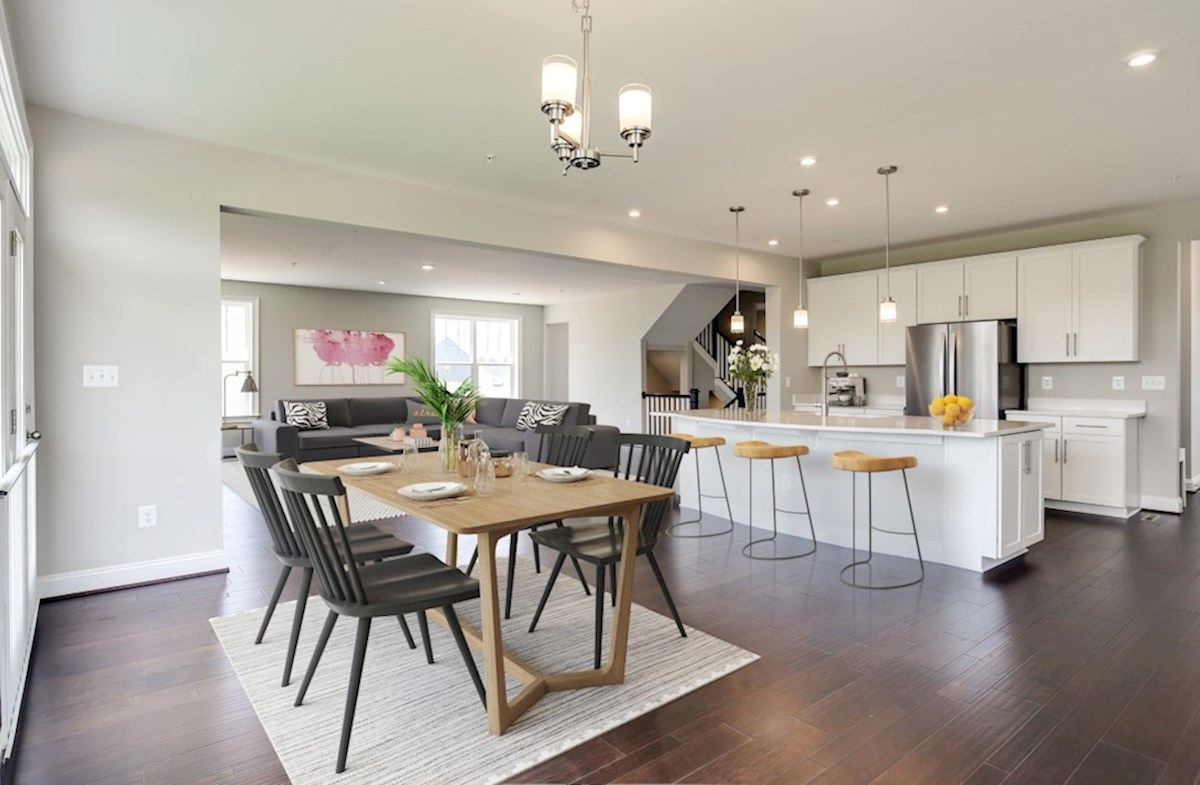 Enclave at River Hill Augusta Augusta breakfast area extends to the kitchen and great room