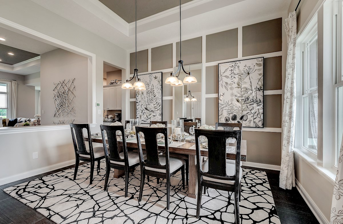 Delaware dining room offers hardwood floors