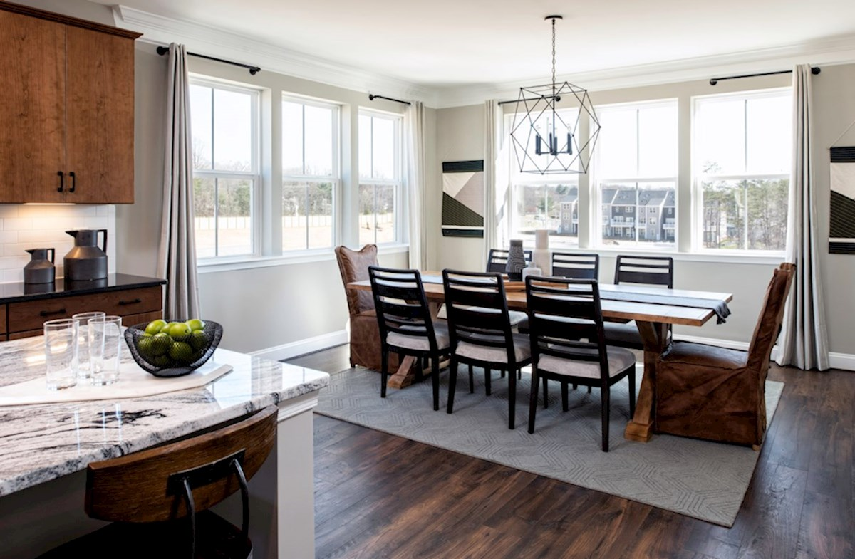 Riverwalk at Crofton Condos Taylor Large dining room in the Taylor