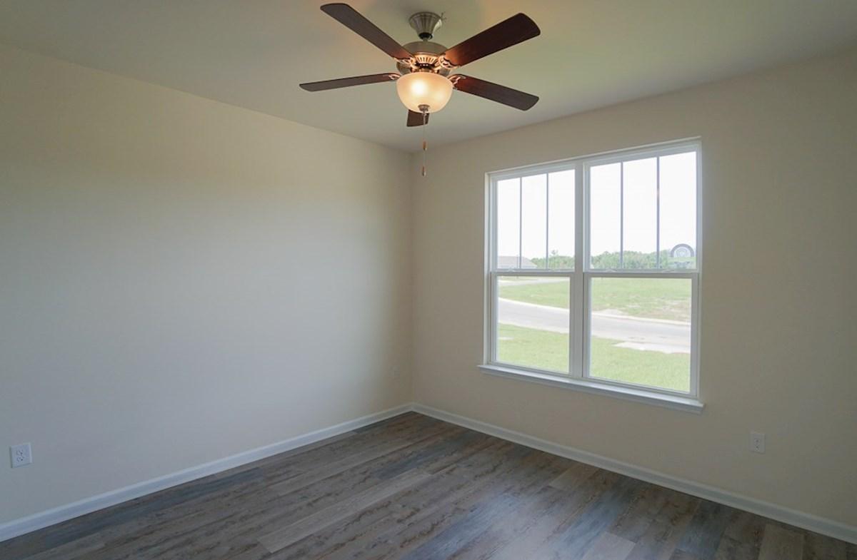 Georgetown quick move-in second bedroom features luxury vinyl plank flooring