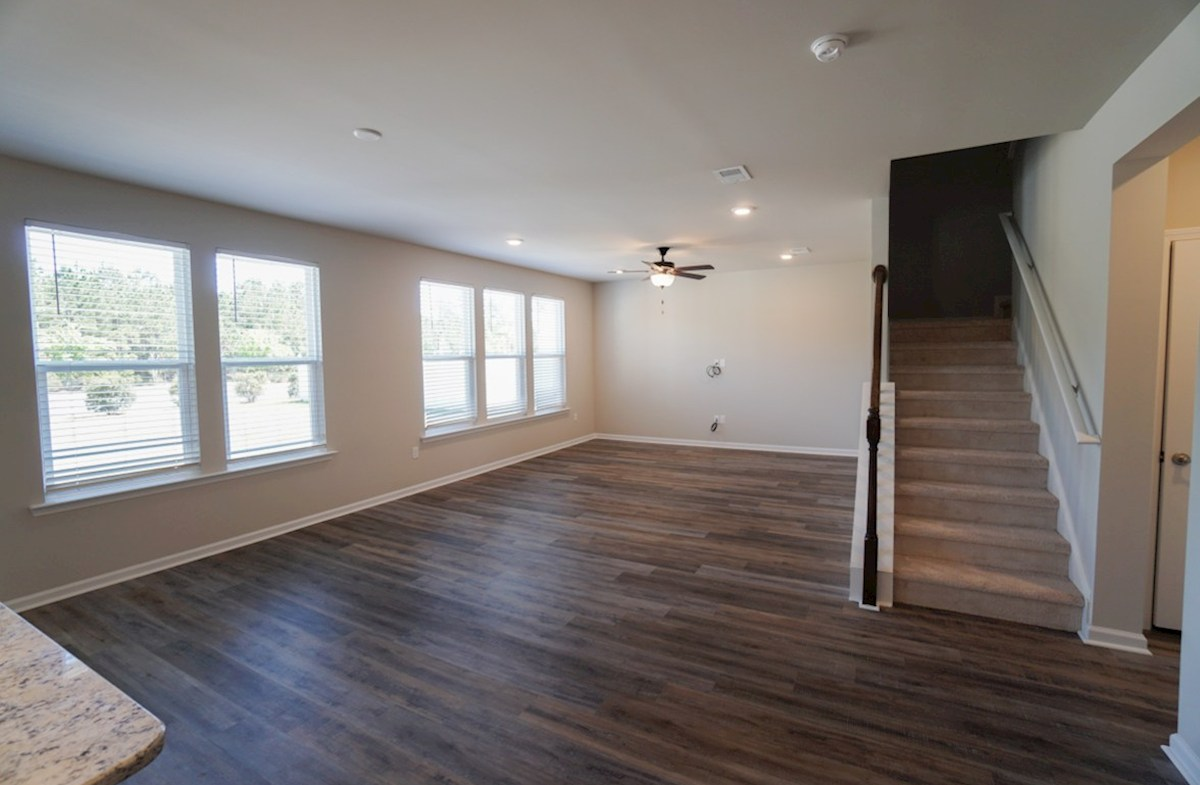 Edisto quick move-in family room with 9' ceilings