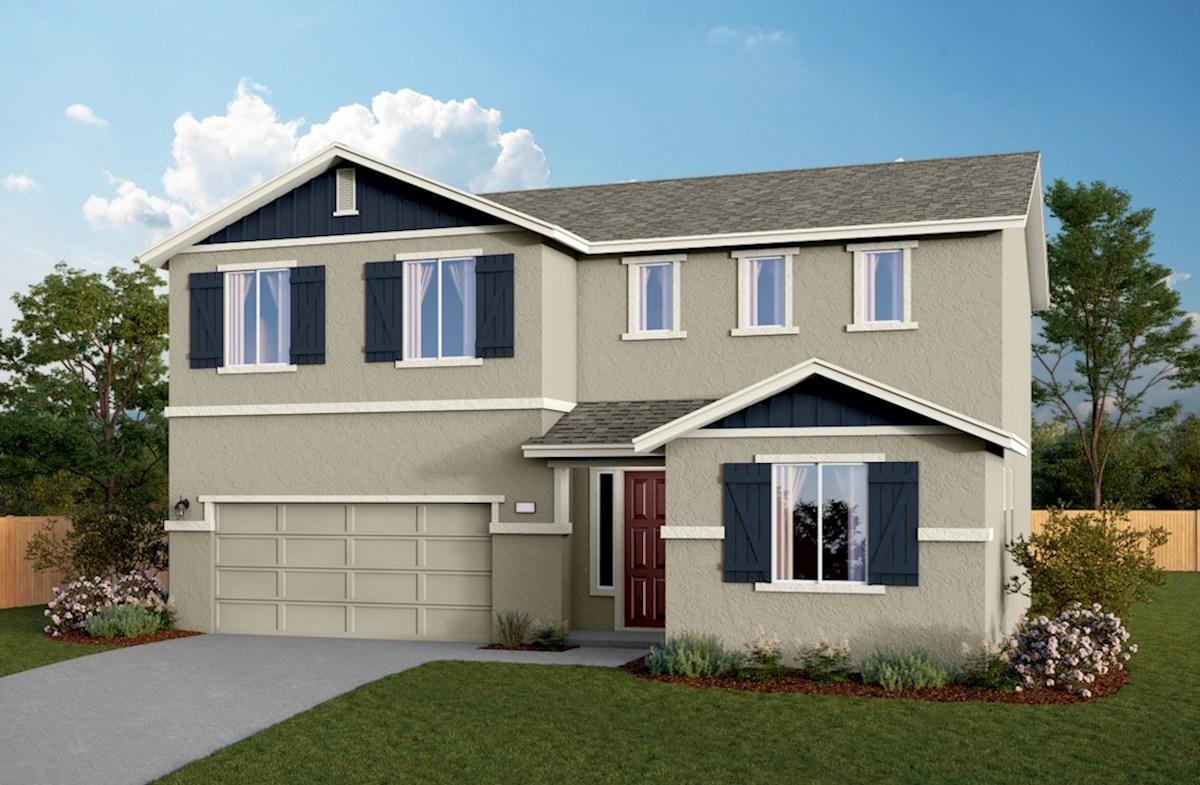 Residence 3 Elevation Farmhouse A