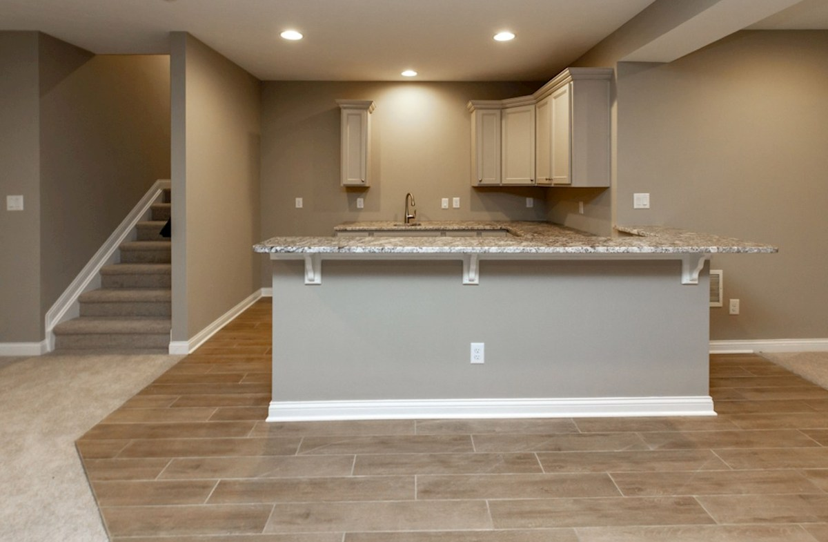 Tarkington quick move-in Finished basement with wet bar