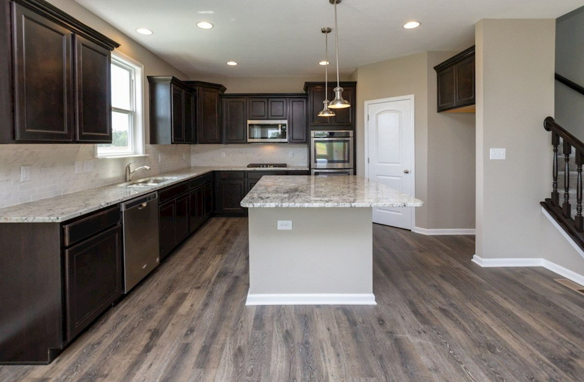 Porter quick move-in Gourmet kitchen with stainless steel appliances