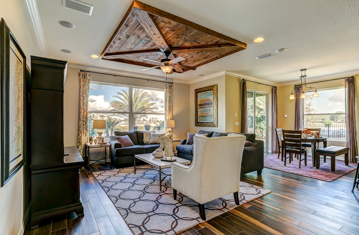 The Reserve at Pradera Captiva Furnished great room with large windows