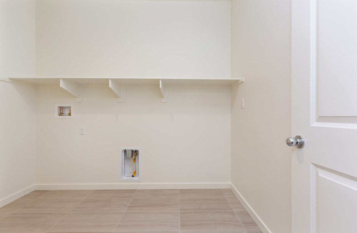 Piedmont quick move-in Laundry room centrally located near the master suite and secondary bedrooms for your convenience