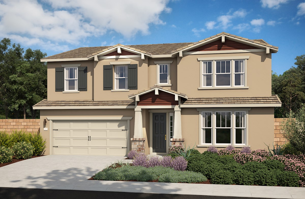 Two-story home with 3-car tandem garage