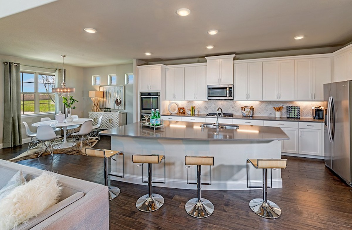 The Grove at Craig Ranch Brazos Brazos open kitchen with breakfast nook