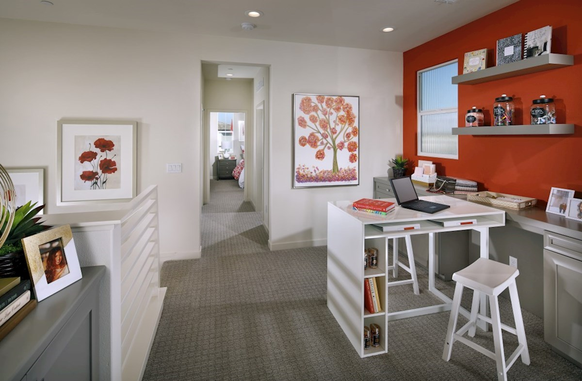 Mission Lane Cottonwood The loft provides the additional space needed for a desk or study area