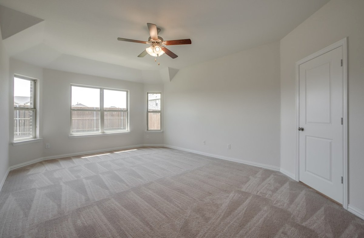 Silverado quick move-in Silverado master bedroom with large windows