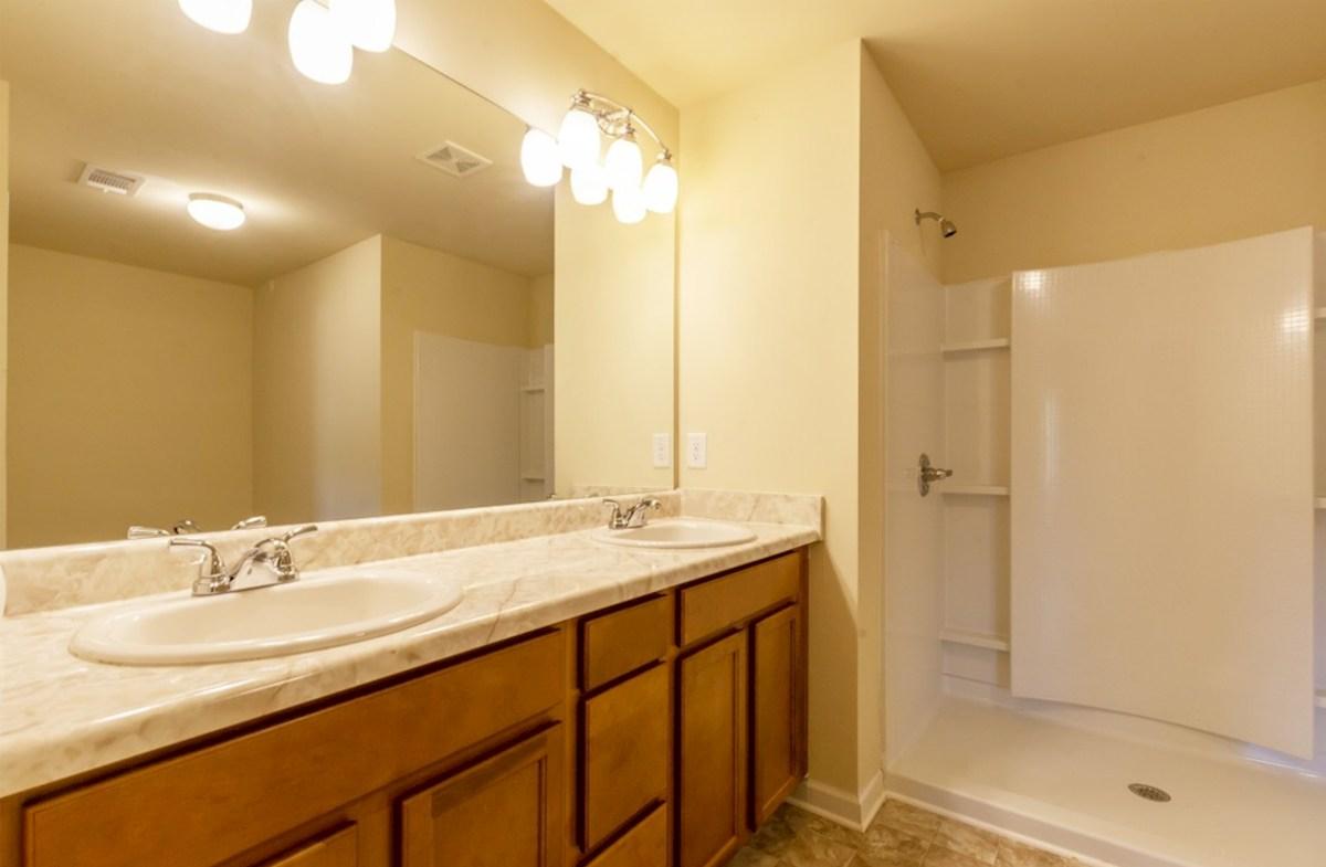 Centennial Walk Hartwell Master Bathroom with dual sinks