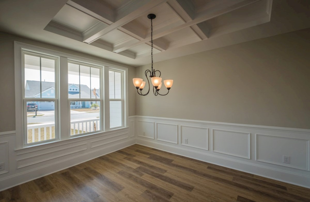 Blair quick move-in coffered ceilings in dining room