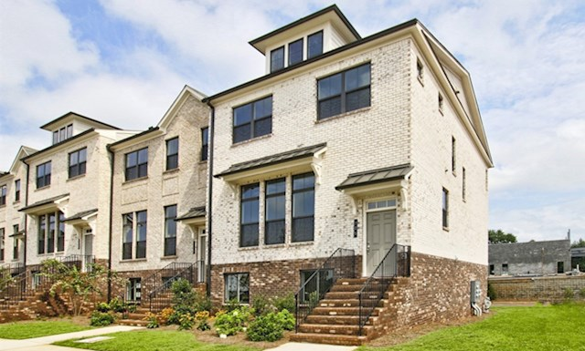 Three-story townhome with rear-loading 2-car garage