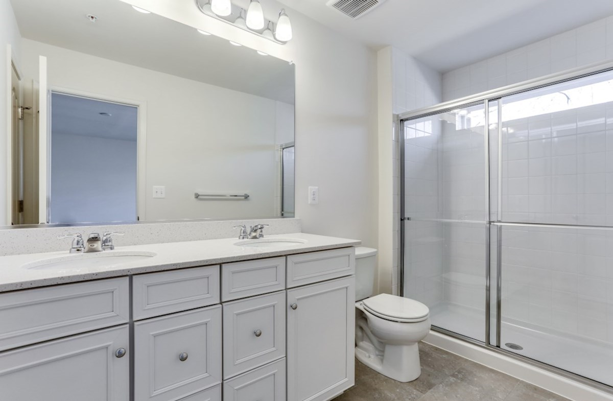 Potomac quick move-in Dual vanities in the Potomac master bath