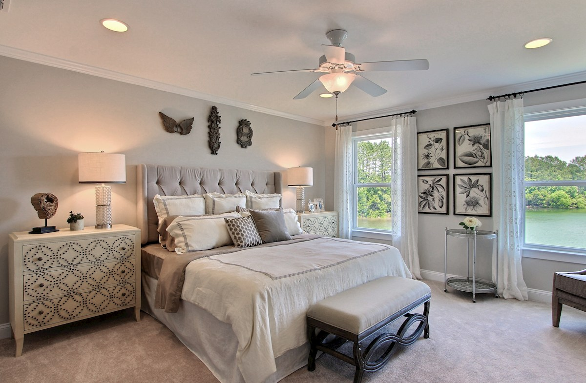 Bentley Park Madison bright master bedroom