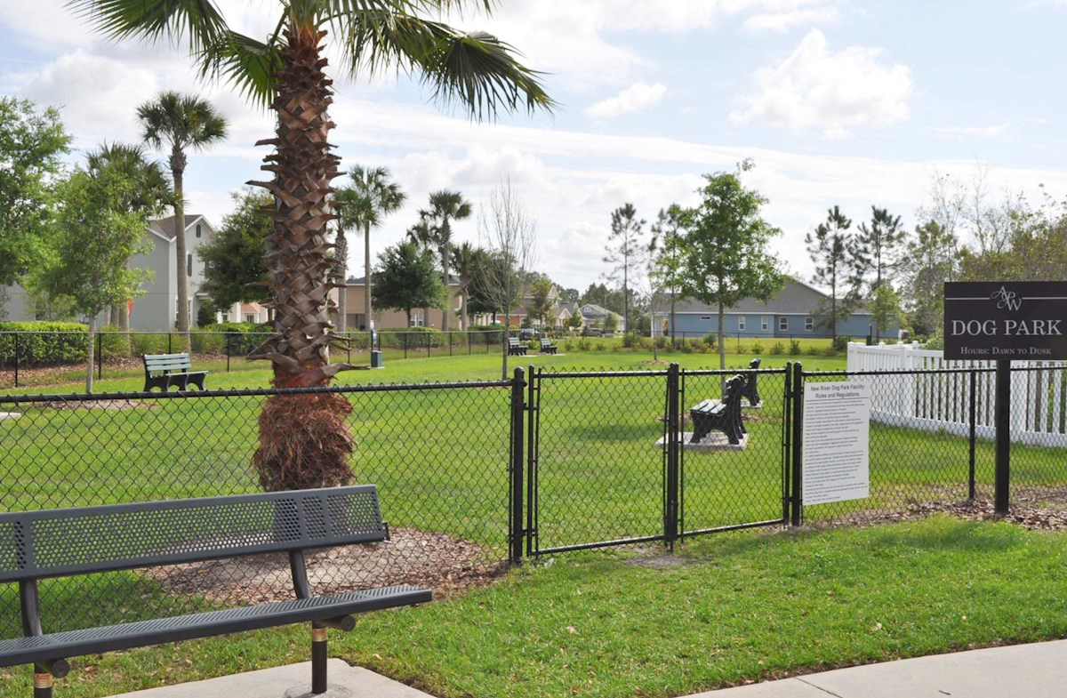 fenced community dog park