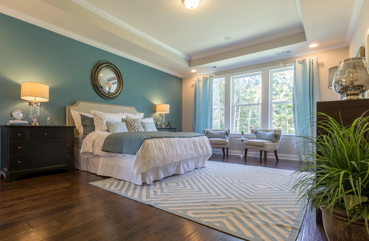 turquoise master bedroom