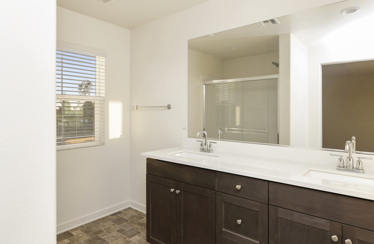 Hudson quick move-in Separate vanities give you more space and privacy