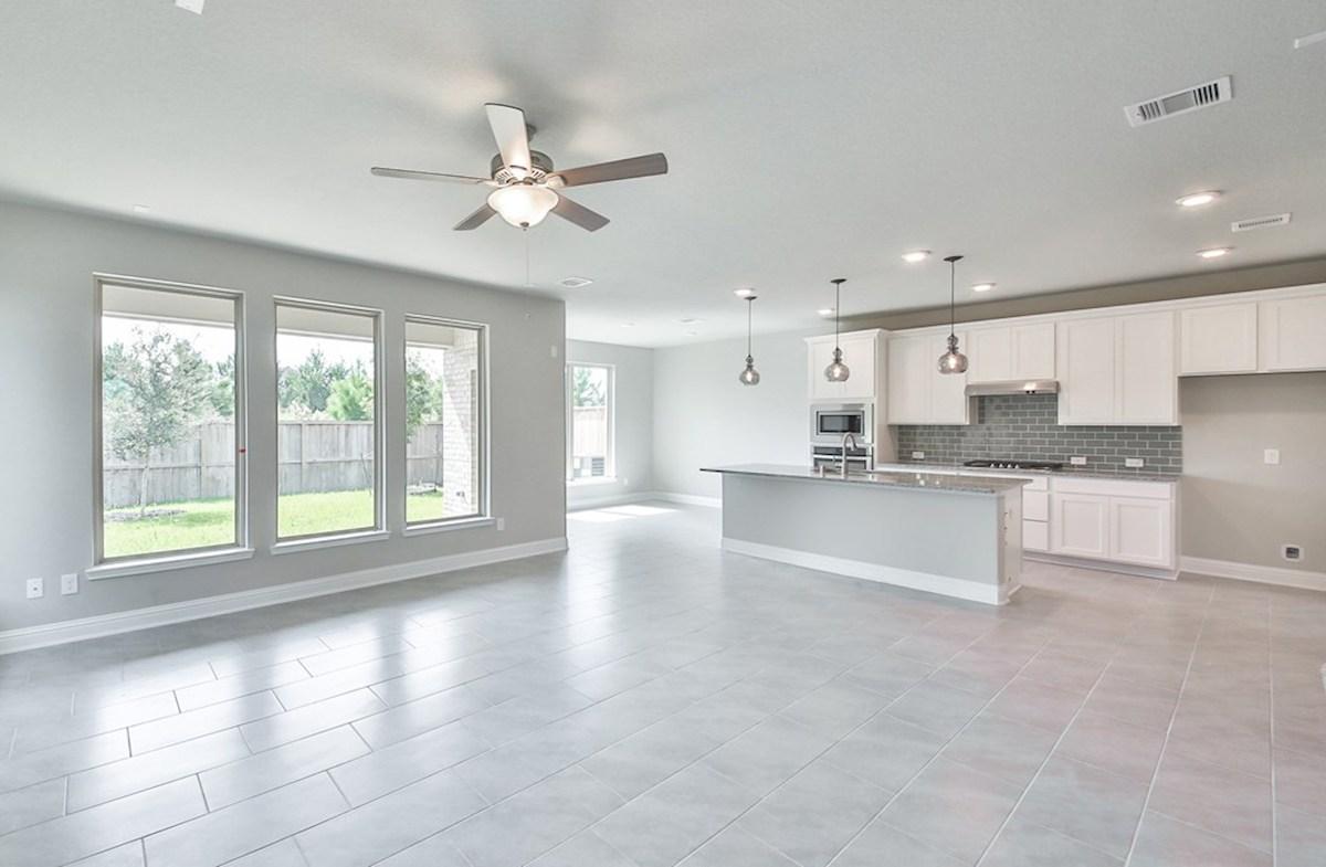 Juniper quick move-in open great room with tile flooring