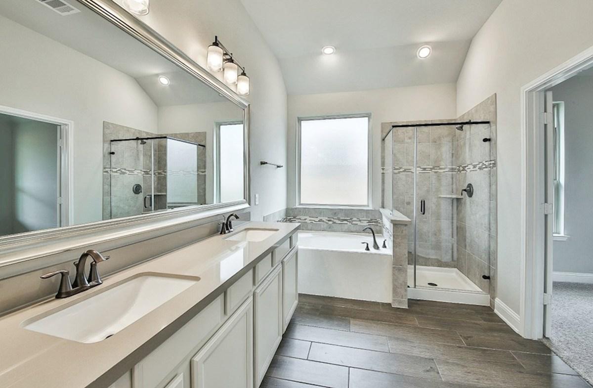 Capri quick move-in Capri master bath with separate garden tub and shower