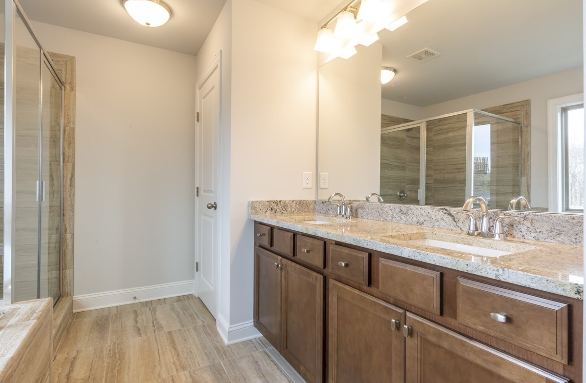Piedmont quick move-in Master Bathroom with dual sinks
