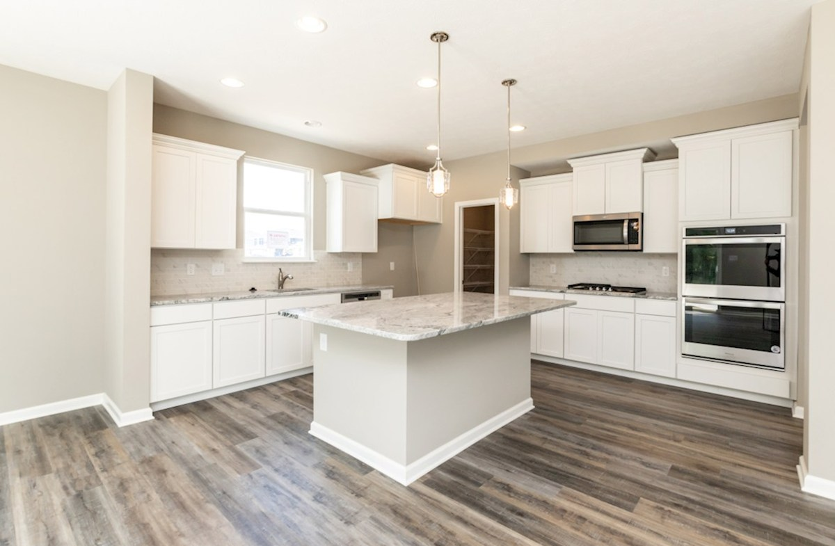 Shelby quick move-in kitchen with double ovens and gas cooktop