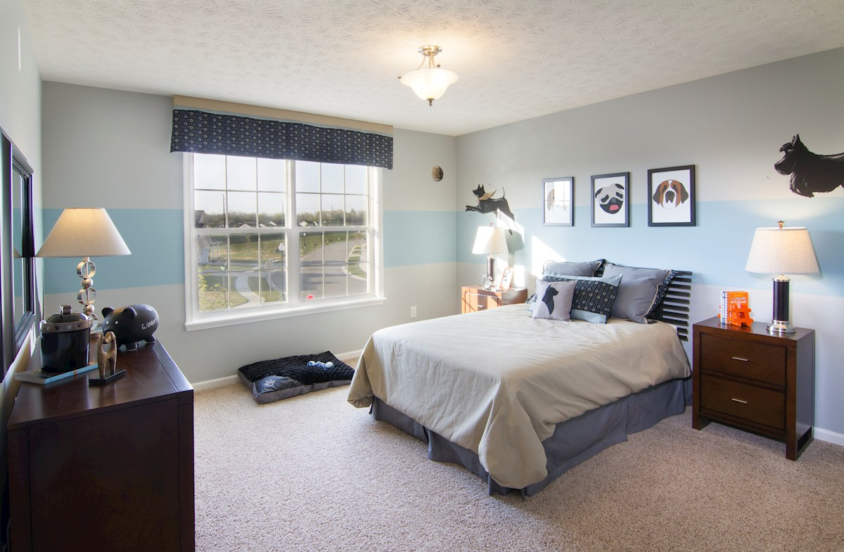 Shadow Creek Farms Juniper guest bedroom with ample closet space