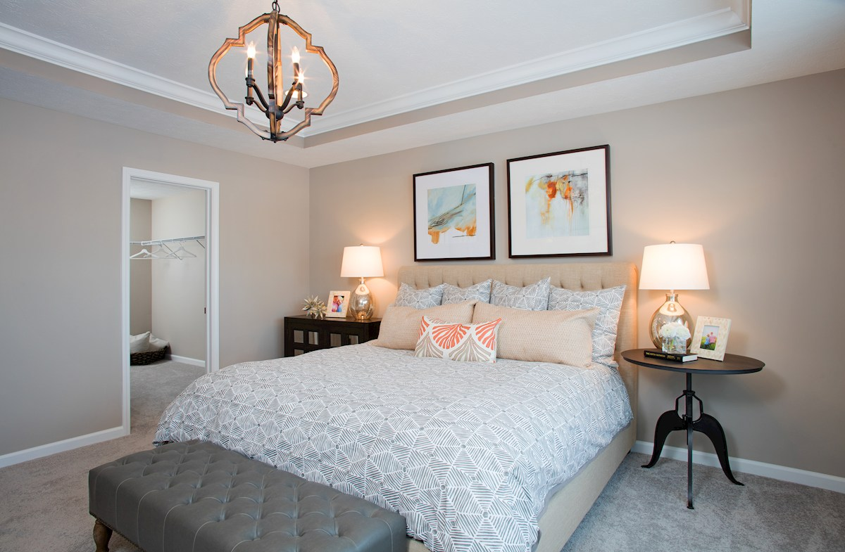 Hampshire Crossroads Collection Lawrence master bedroom with trey ceiling