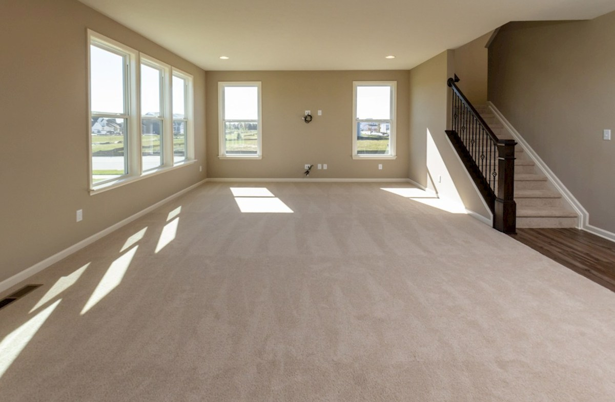 Porter quick move-in Great room comfortably fits two couches