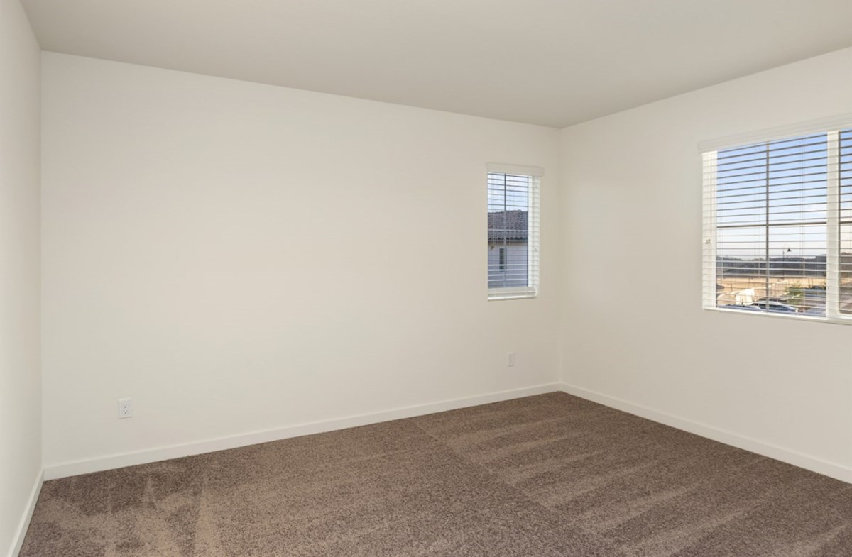 Hudson quick move-in Master bedroom located in the back of home for best exterior views and natural light