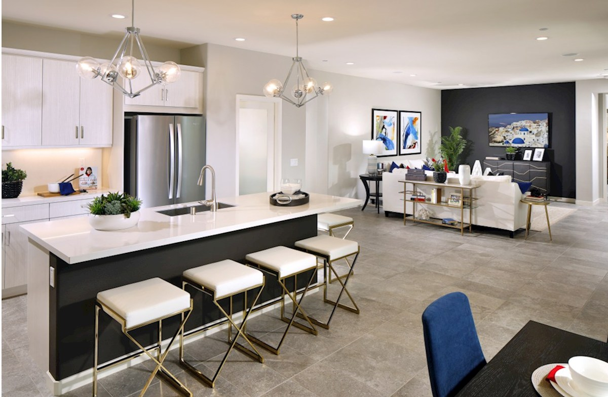 Barcelona Opal Entertain guests while preparing gourmet meals in this open-concept kitchen and great room