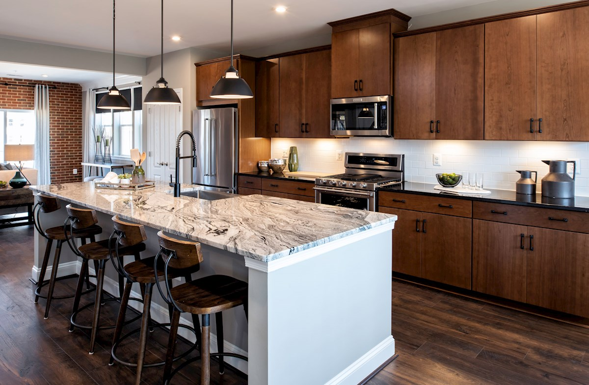 Taylor kitchen featuring granite counters